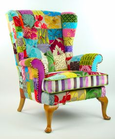 Items similar to Penshurst Natural Patchwork Parker Knoll Armchair Designers Guild Fabric on Etsy Parker Knoll Chair, Knoll Chairs, Lounge Chairs, Funky Chairs, Colorful Chairs, Designers Guild, Funky Furniture, Painted Furniture, Coaster Furniture