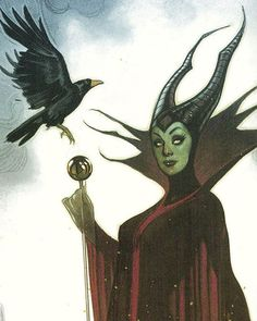 Detail from a Maleficent commission I did a few years ago. SLEEPING BEAUTY is my favorite animated film!