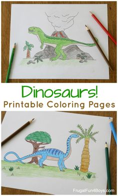 Printable Dinosaur Coloring Pages for Kids #dinosaurs #kidsactivities #coloringpages