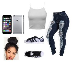 """""""Untitled #185"""" by makedab26 ❤ liked on Polyvore featuring adidas Originals"""