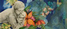 By: Satu Laaninen  Herkkupurkki: kollaasiHerkkupurkki: kollaasi pikkukimalainen.blogspot.com  drawing, portrait, kiss, love, self-portrait, mother and child, baby
