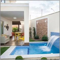 137 the small pool patio diaries- page 1 Backyard Pool Designs, Small Backyard Pools, Patio Design, Backyard Patio, Outdoor Pool, Pools For Small Yards, Small Swimming Pools, Swimming Pools Backyard, Swimming Pool Designs
