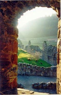 Castle view of Loch Ness, Scotland