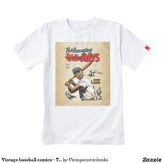 #baseball #vintagecomicbooks #marvel #dccomics #theamazingwilliemays #comicbook #sports #williemays Vintage baseball comics - The amazing Willie Mays Zazzle HEART T-Shirt