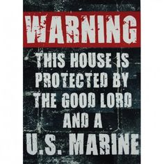 """Metal Warning Sign 12"""" x 18"""" 