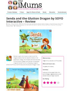 4 stars for 'Senda and The Glutton Dragon' from TheiMum.com !!!
