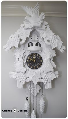 Painting cheap cuckoo clocks for a modern look