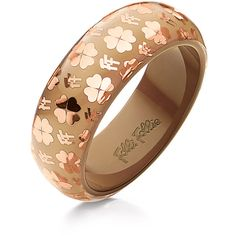 Folli Follie Signature Bracelet ($85) ❤ liked on Polyvore featuring jewelry, bracelets, accessories, womens jewellery, jade bangle, bracelet bangle, pandora jewelry and wide bangle
