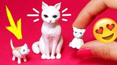 Kittens for dolls Miniature Cat Accessories  DIY Pets for dolls  AnnaOriona - YouTube