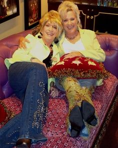 Jeannie Seely and Connie Smith in an Opry dressing room.