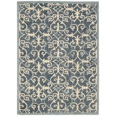 Nourison Marina Denim Blue Area Rug & Reviews | Wayfair