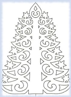 Christmas paper tree to make . Christmas Window Stickers, Diy Paper Christmas Tree, Christmas Tree Template, Paper Christmas Decorations, Noel Christmas, Christmas Printables, Christmas Crafts, Paper Lace, Pattern