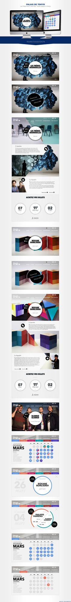 Graphic Design and UX Design / Palais de Tokyo in Paris.