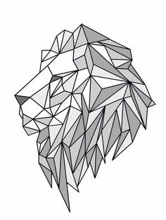 Lion geometric create by june pur