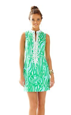 721d542a7db7e9 The Alexa Shift is a vintage inspired shift. This shift dress with collar  and lace. Lilly Pulitzer
