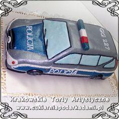 038. Tort w kształcie radiowozu policyjnego. Police car cake.
