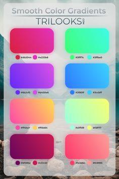 Design Logo Inspiration, Graphic Design Tips, Color Inspiration, Design Web, Ui Color, Gradient Color, Colores Hex, Hex Color Palette, Card Ui