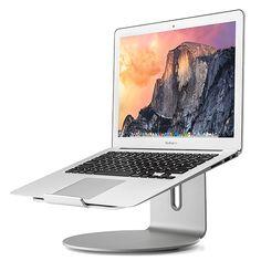 MacBook Air,Silver Seenda Elevator Laptop Stand Aluminum Desktop Stand for Laptops Universal Fit Ventilated Stand for MacBook MacBook Pro