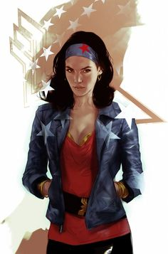 """xombiedirge: """"Wonder Woman casual by Ben Oliver / Twitter """""""