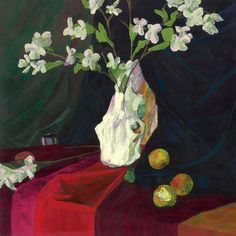 Cow Skull in Green Light Still Life Acrylic Paint on by TwoEasels For sale now on Etsy