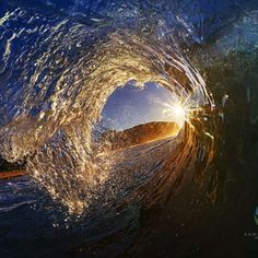An early morning barrel at Forresters Beach, NSW Andrew Cooney