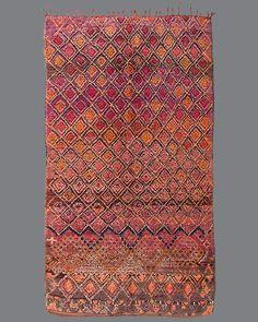vintage Moroccan rug, Beni M'Guild #BG24