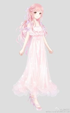 Anime girl | that would be a really cute night gown don't you think?