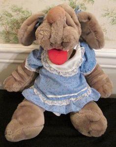 Wrinkles-Plush-GanzBros-17-Inches-Tag-1580719-Girl-1980s-Full-Body-Hand-Puppet