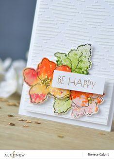 Altenew - Hibiscus Bouquet - Metallic Shimmer Ink Spray - Sketched Lines Stencil - Lostinpaper (card) 1 copy Altenew Cards, Stampin Up Cards, Hibiscus Bouquet, Card Sketches, Flower Cards, Cardmaking, Stencils, Paper Crafts, Sprays