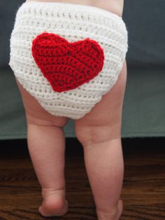Valentine's Heart Baby and Toddler Diaper Cover