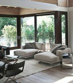 relaxliegen wohnzimmer relax sofa fransenteppich einrichtungsideen