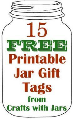 Crafts with Jars: 15 Free Printable Jar Gift Tags