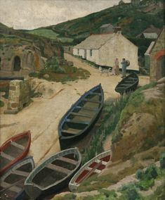 'PORTHGWARRA' | Ernest Procter (1886-1935): Penlee House Gallery & Museum, Penzance, Cornwall.     ✫ღ⊰n