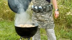 A tactical grilling apron for when you tailgate...