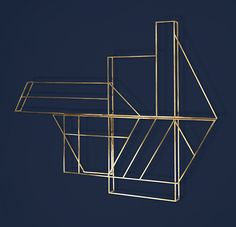 Brass laundry drying rack by Berlin's Studio Berg  I would just paint this design on my wall