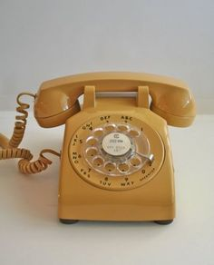 I love the idea of using a good old rotary phone, love the sound that it makes when dialing a number. My Childhood Memories, Sweet Memories, Vintage Phones, Old Phone, Ol Days, My Memory, Mellow Yellow, The Good Old Days, Rotary
