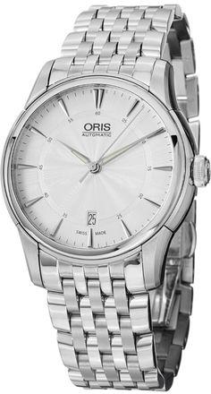 Men Watches : Oris Artelier Date Silver Dial Stainless Steel Mens Watch