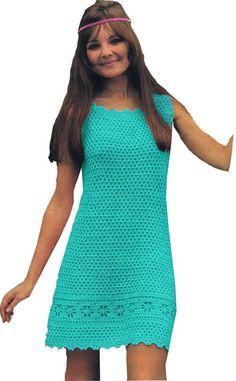 Instant Download VKNC120 Vintage 1960's Crochet Ladies | Etsy Crochet Summer Dresses, Crochet Skirts, Crochet Clothes, Knit Crochet, Cotton Crochet, Vintage Knitting, Vintage Crochet, Vintage Dress Patterns, Vestidos Vintage