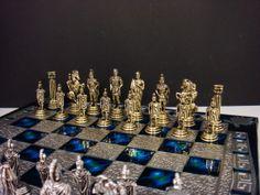 Romans Chess set 28X28 / Aluminium chess board by CraftsAndMetal, €46.00