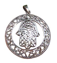 925 Silver Hamsa Hand Of God Protection Amulet Pendant Necklace Gold Pendant, Cross Pendant, Sterling Silver Pendants, 925 Silver, Silver Jewelry, Pendant Necklace, Buddha Beads, Hamsa Hand, Natural Crystals