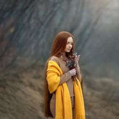 Image may contain: 1 person, standing and outdoor Very Long Hair, Redheads, Raincoat, Long Hair Styles, Photo And Video, Beautiful, Instagram, Women, Amazing
