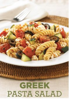 Try making this Greek-inspired Pasta Salad for a delicious side dish for your next family get-together.
