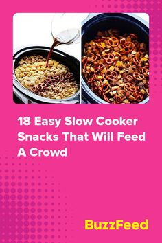 18 Easy Slow Cooker Snacks That Will Feed A Crowd Feeding A Crowd, Bacon Jam, Slow Cooker, Crockpot Recipes, Cookie Recipes, Appetizers, Snacks, Breakfast, Cooking