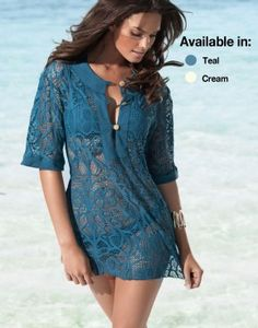 Lace beach cover up!