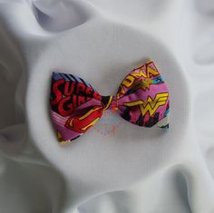 Wonder Woman, Supergirl Bowtie, Hairclip, Hairband by PerfectlyCraftedByT