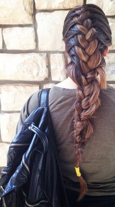 school style braid-love it but it needs to be neater