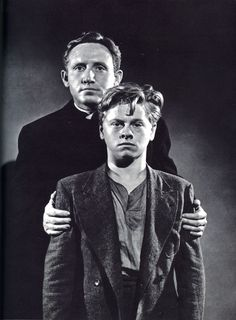 """Spencer Tracy and Mickey Rooney in """"Boys Town""""."""