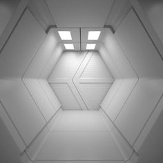 Sci Fi Interior 3D Model by Roman Pritulyak, via Behance