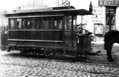 Talvevagun nr.16 Vana turu lõpp-peatuses. Foto: Ajaloomuuseum, u. 1895