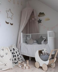 A pretty little girl's room | Ooh Noo Toy Pram available at www.istome.co.uk
